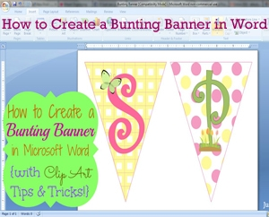 How to Create a Bunting Banner in Microsoft Word