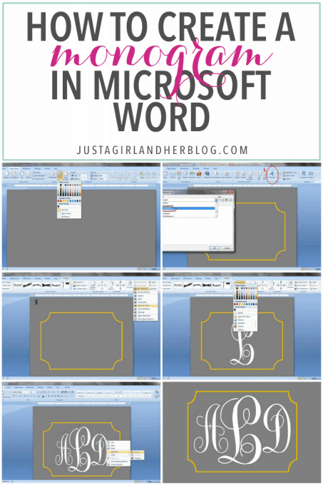 Awesome How To Create A Monogram In Word Design