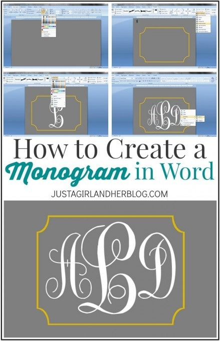 I had no idea it was so easy to make a monogram in Microsoft Word! I'm going to monogram everything now! Click over to the post for the simple tutorial!