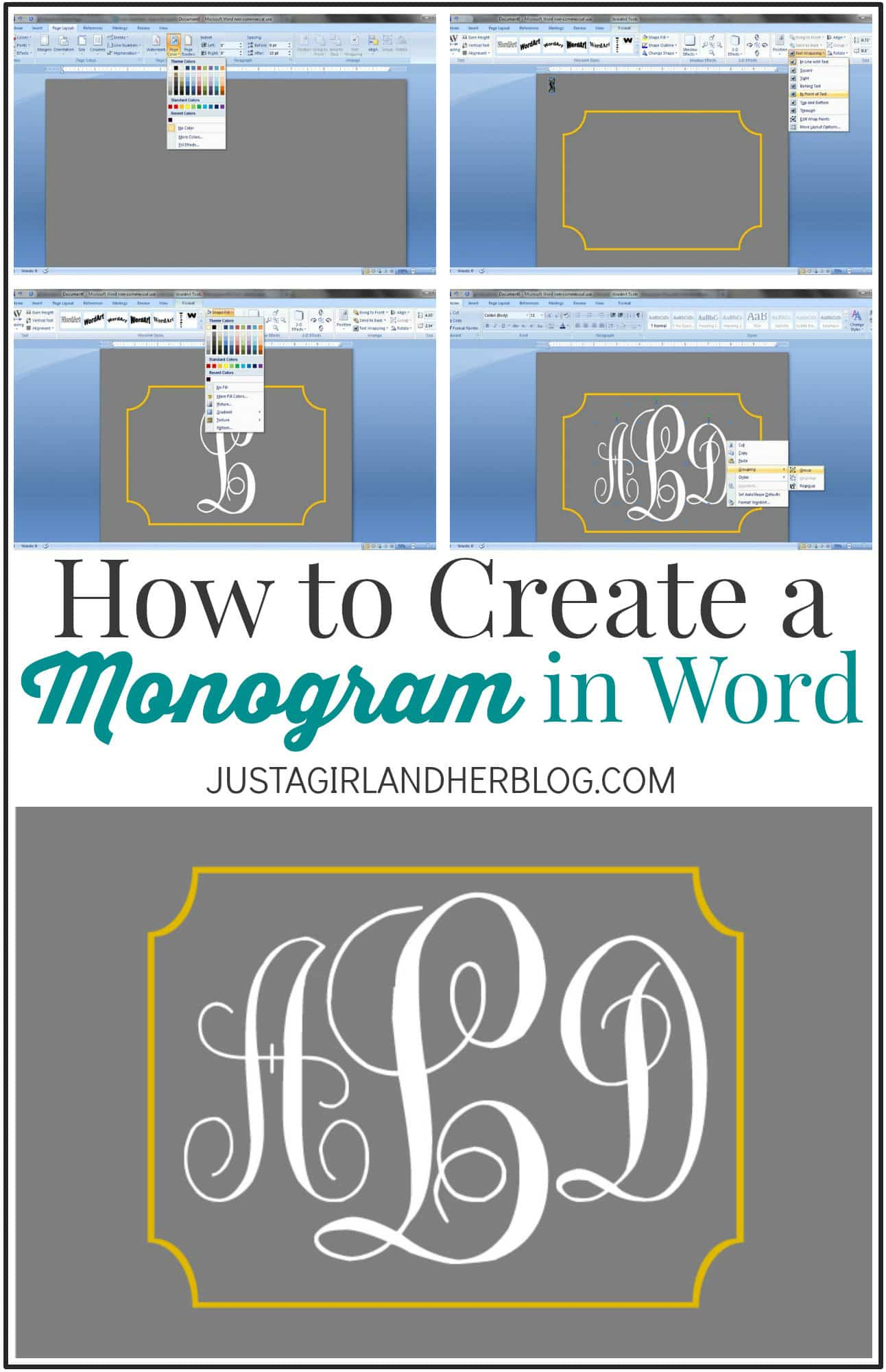 Create Your Own Monogram Free | Joy Studio Design Gallery ...
