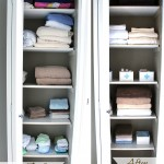 The Colorful Closet that Wasn't {Linen Closet Organization}