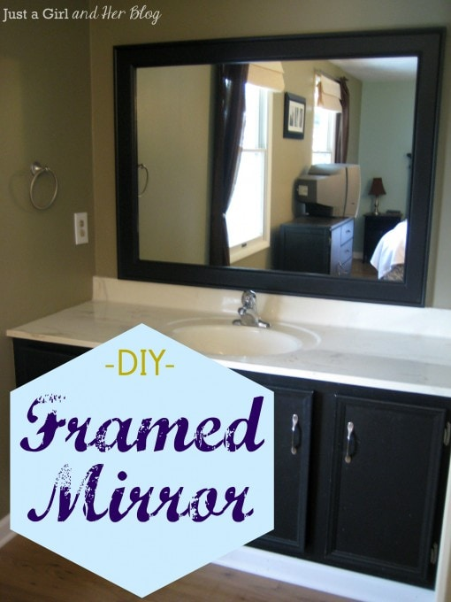 DIY Framed Mirror Smaller