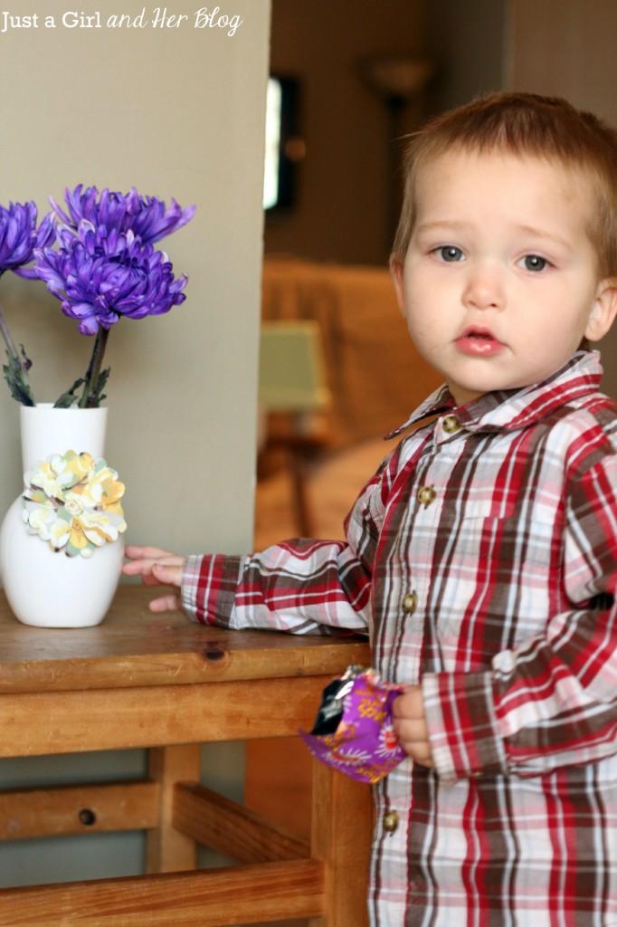 Baby C with Vase
