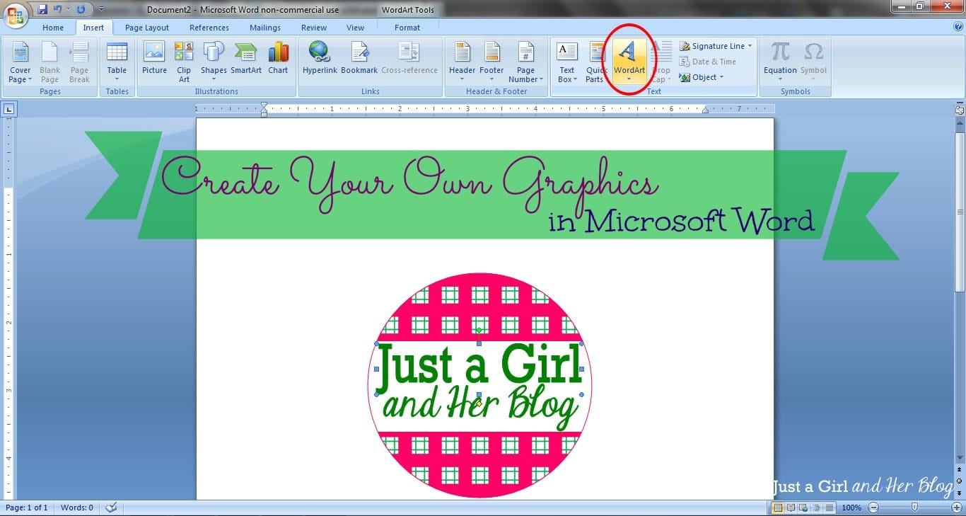 Create your own graphics in microsoft word for Create design online
