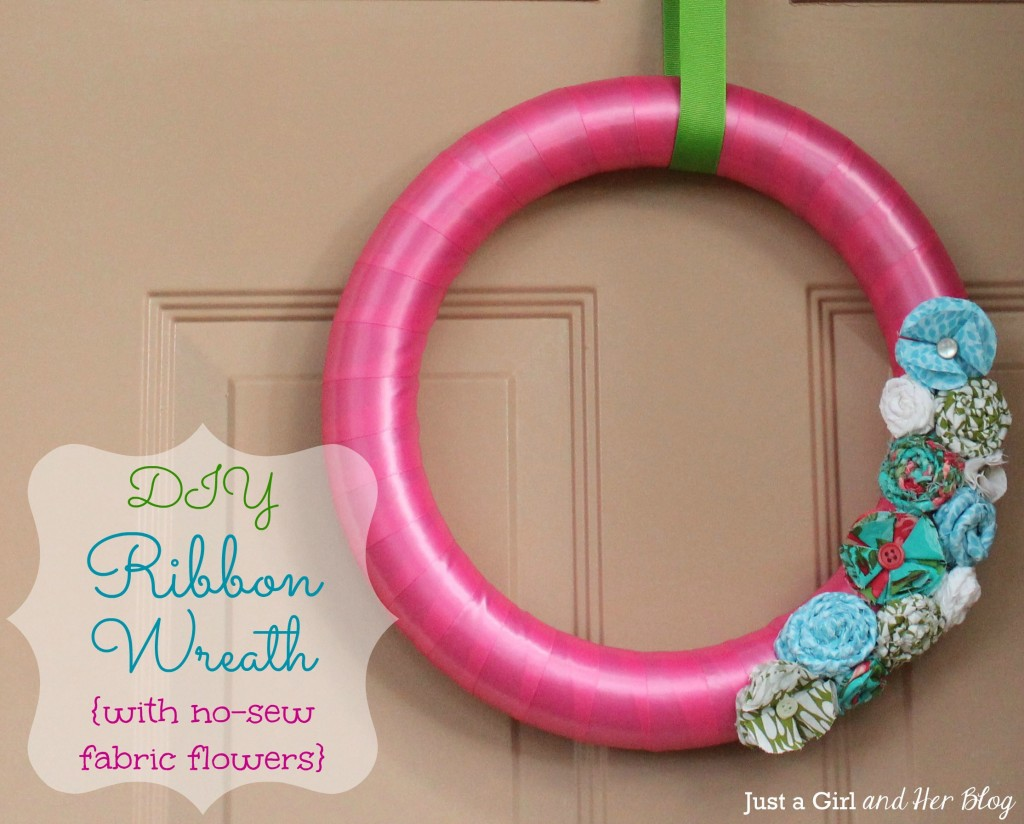 Ribbon Wreath from Just a Girl and Her Blog