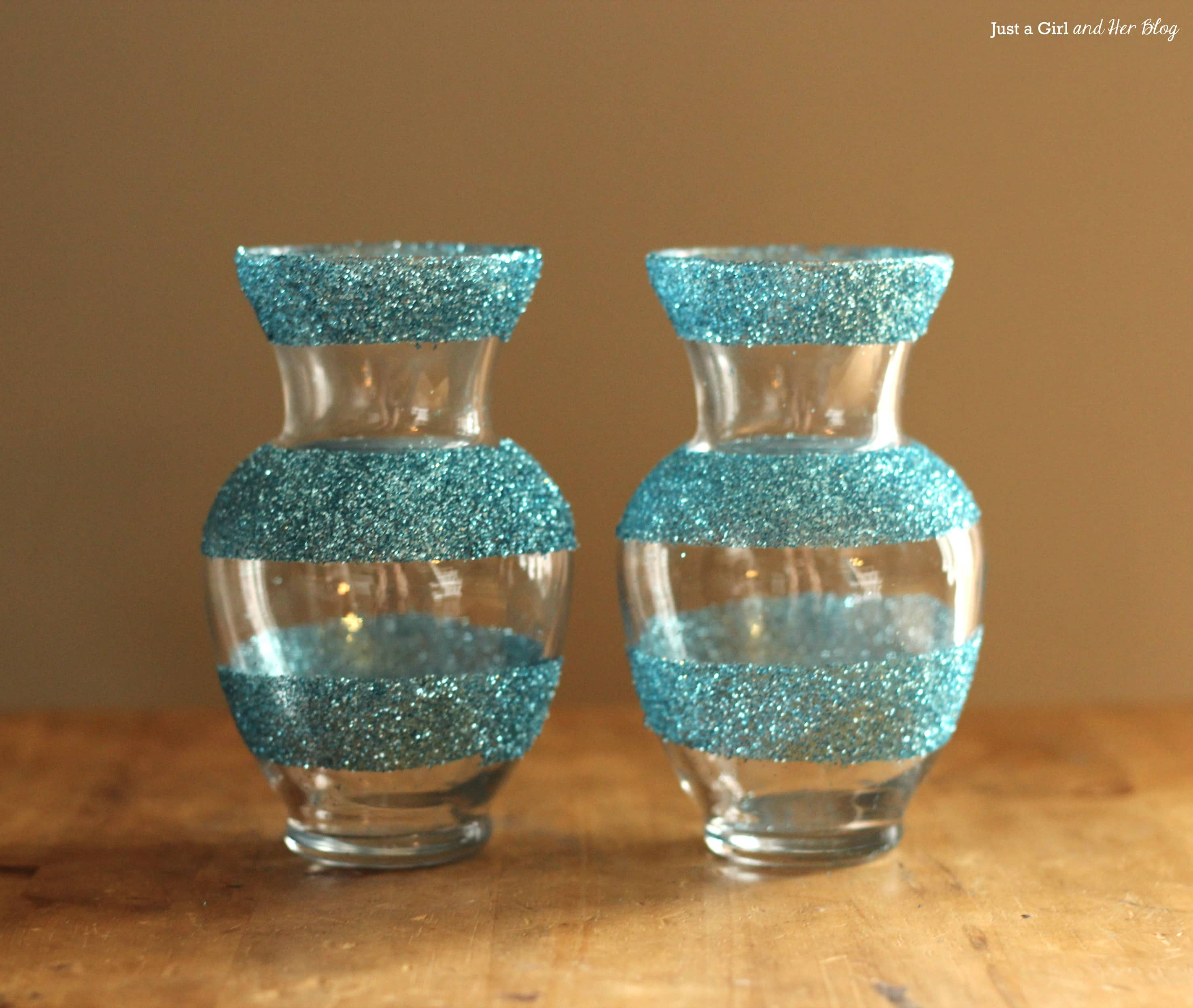 dollar decor girly glitter vases. Black Bedroom Furniture Sets. Home Design Ideas