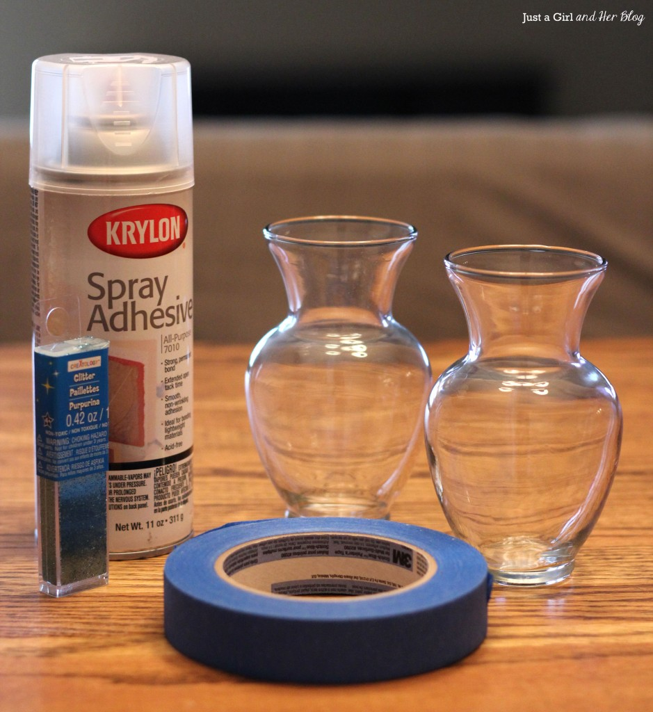 Glitter Vase Supplies
