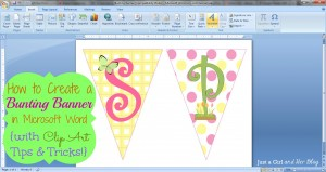 How to Create a Bunting Banner in Word