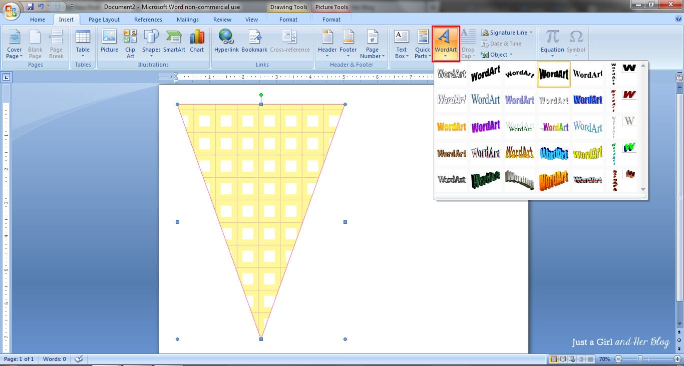How to make a bunting banner in word with clip art tips and tricks insert word art ccuart Gallery