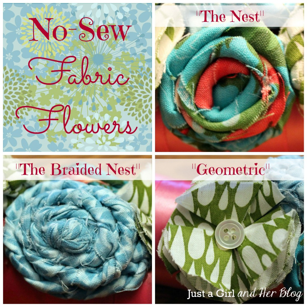 diy no sew ribbon flowers - photo #1