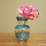 Dollar Decor- Girly Glitter Vases