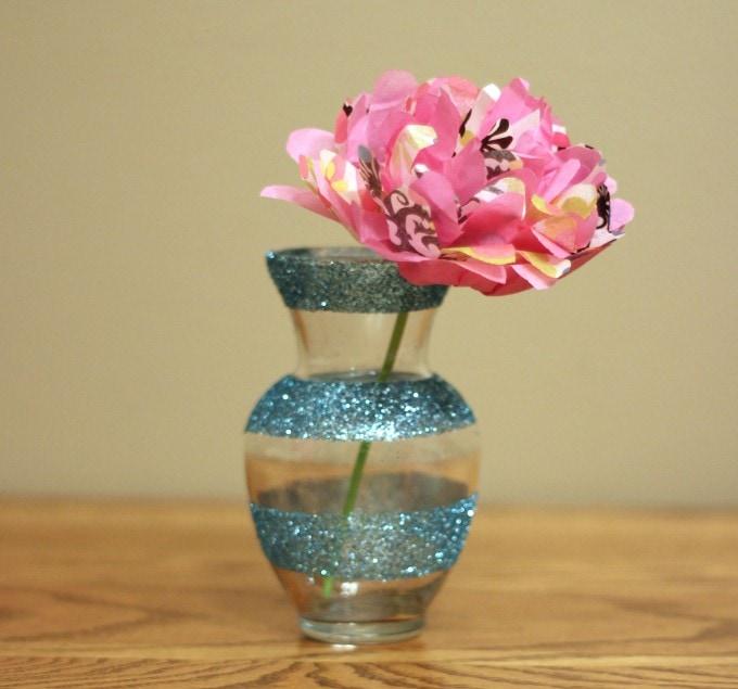 Dollar Decor- Girly Glitter Vases