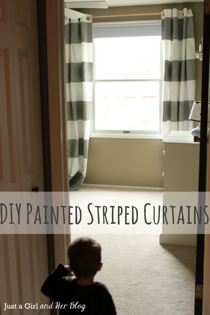 Curtains with Painted Stripes, Title