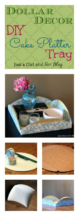 DIY Cake Platter Tray