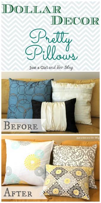 Dollar Decor: Pretty Pillows