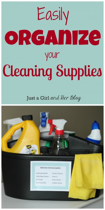 Easily Organize Your Cleaning Supplies