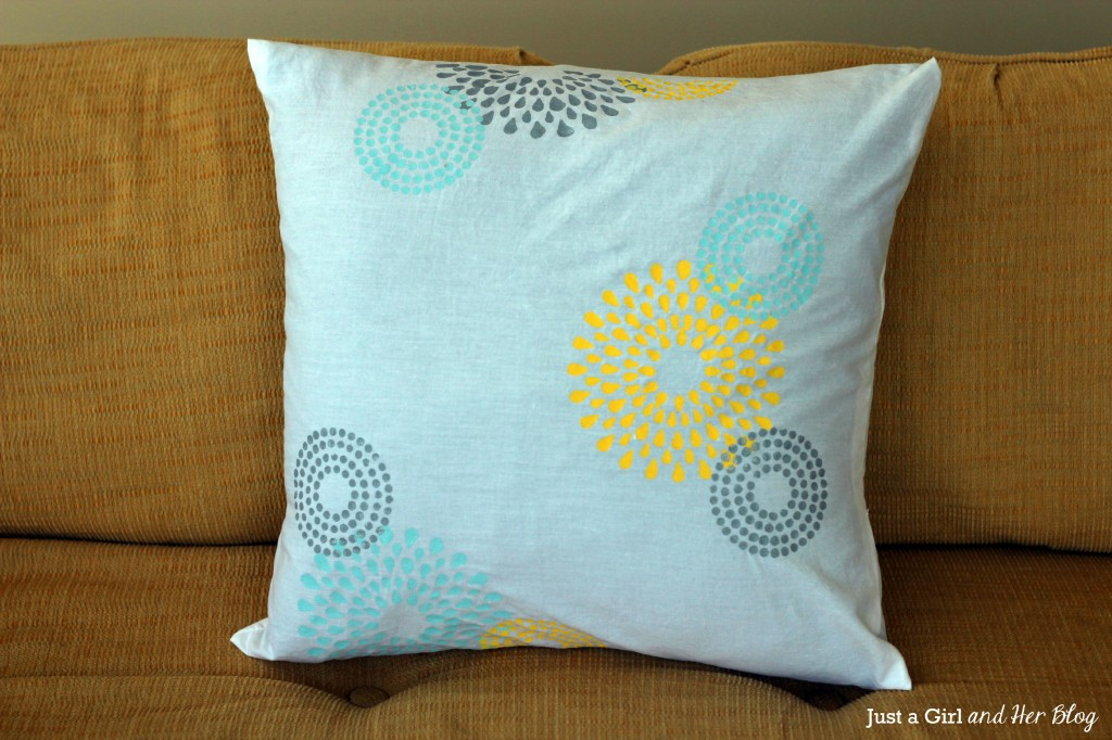 Final Stenciled Pillow