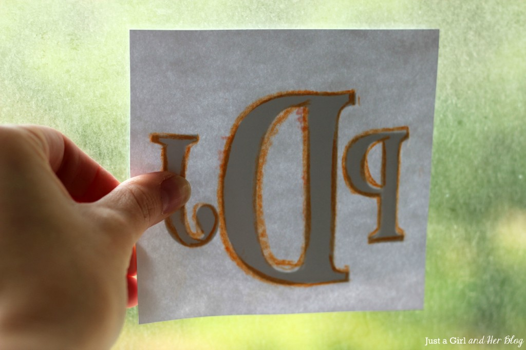 Monogrammed Onesies- Tracing Letters with Chalk
