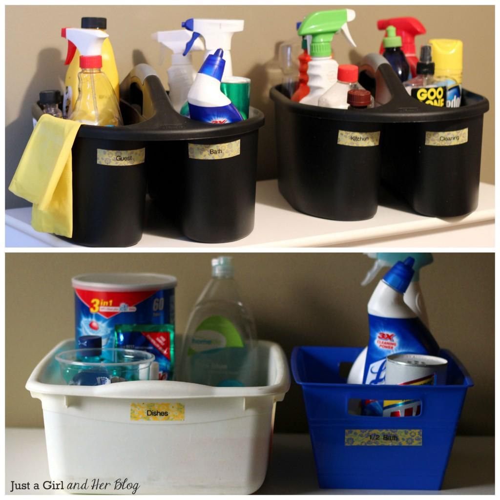 Organized Cleaning Caddies
