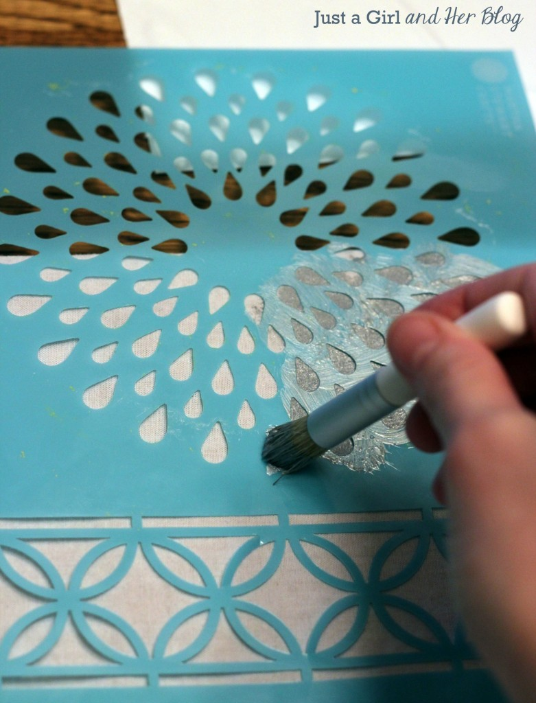 Stenciling with Brush