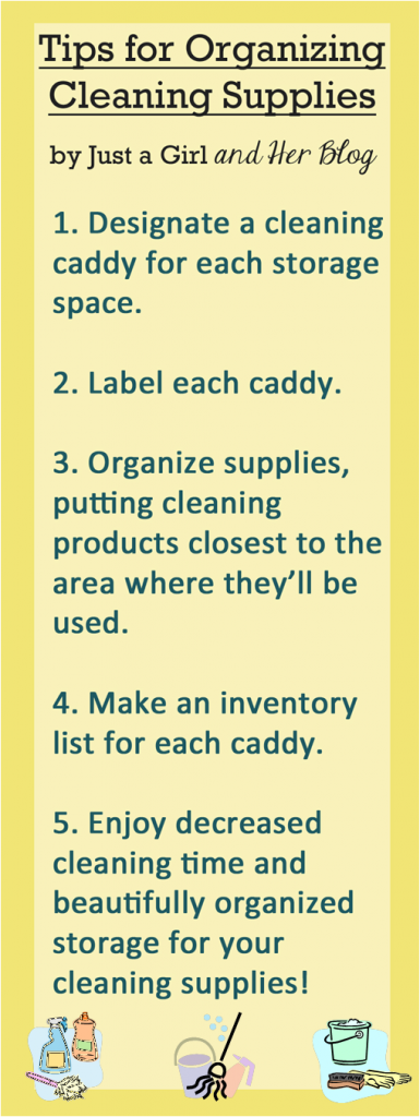 Tips for Organizing Cleaning Supplies