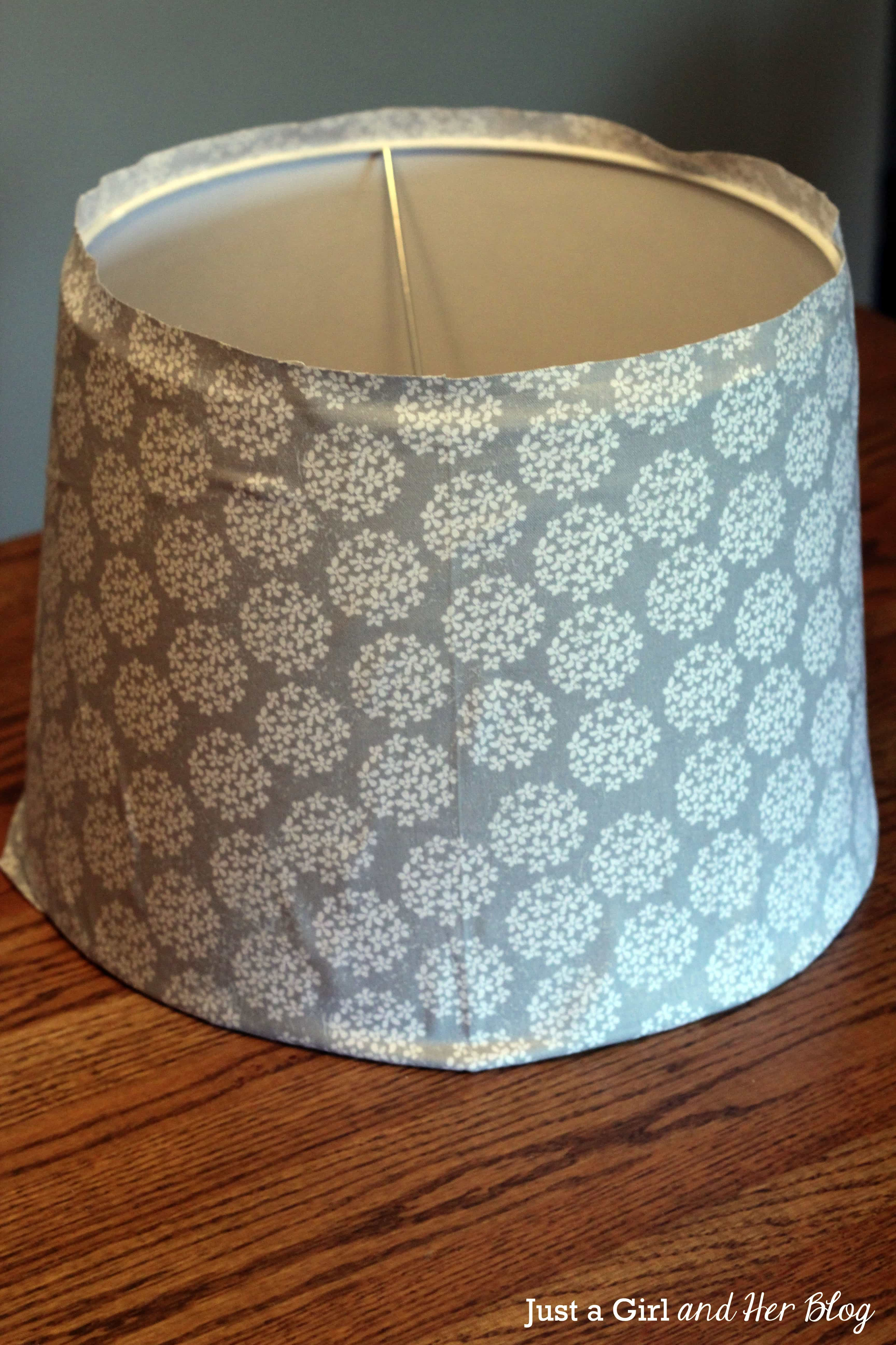 Elegant Lamp Shade Makeover With Fabric By Just A Girl And Her Blog