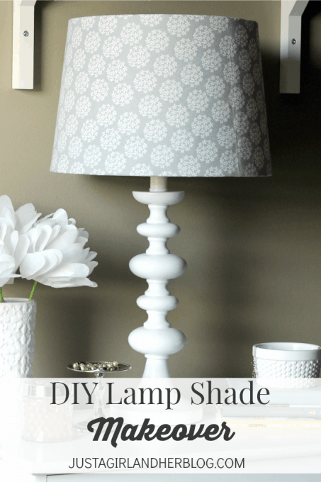 Customize any lamp shade with this simple method-- using material! Click over to the post for the full tutorial!