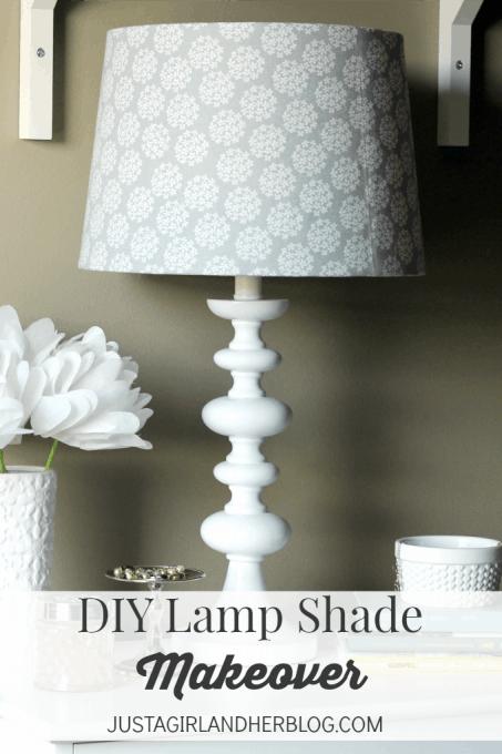 Lamp Shade Makeover | JustAGirlAndHerBlog.com