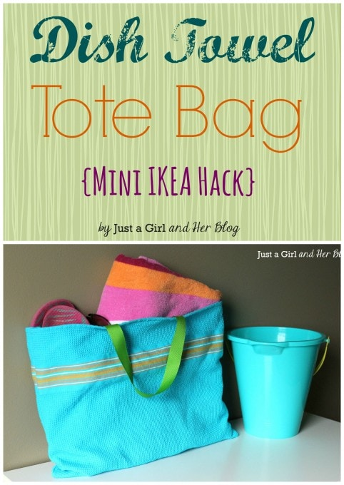 Mini IKEA Hack {Dish Towel Tote Bag}
