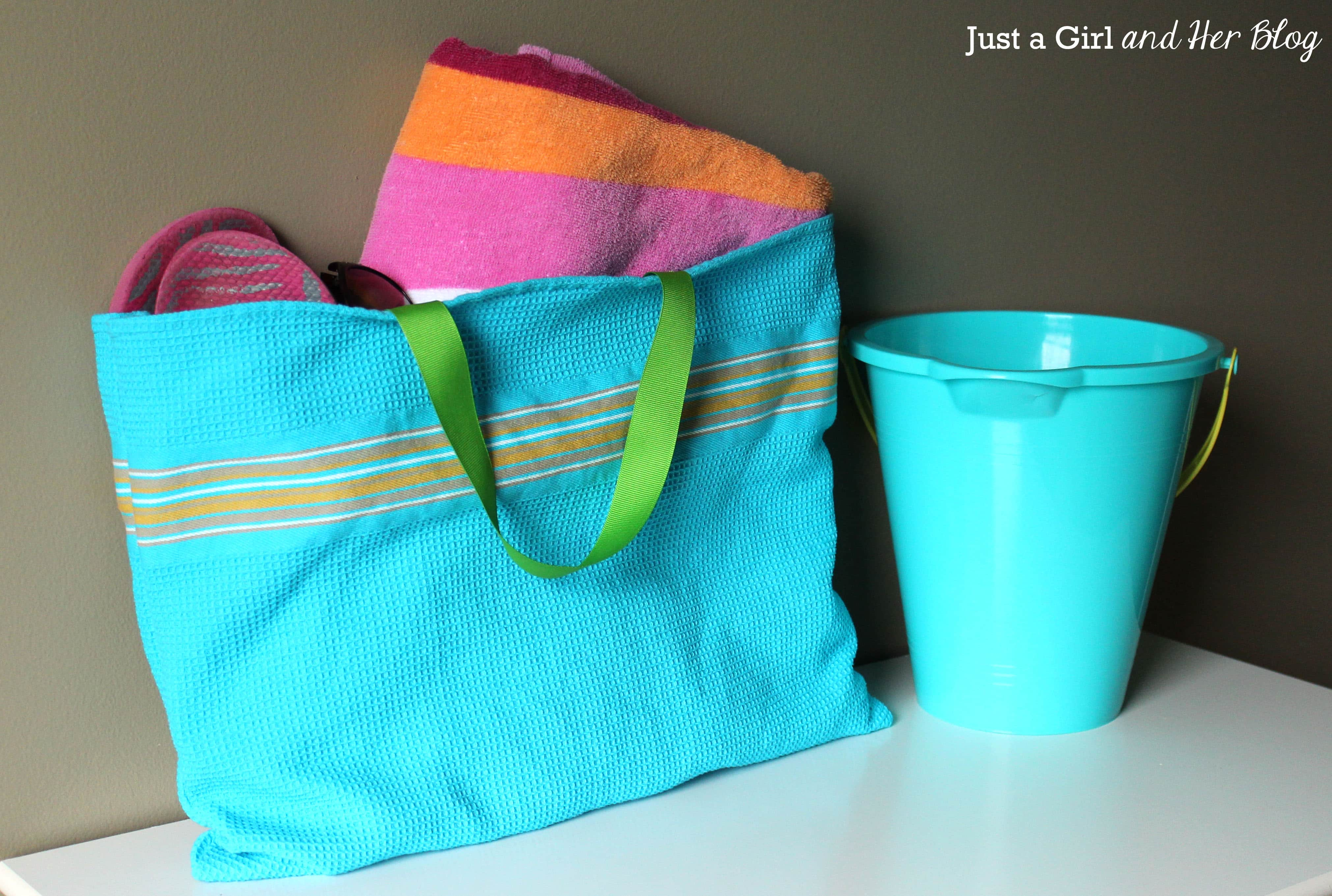 Mini ikea hack dish towel tote bag just a girl and her for Ikea beach towels