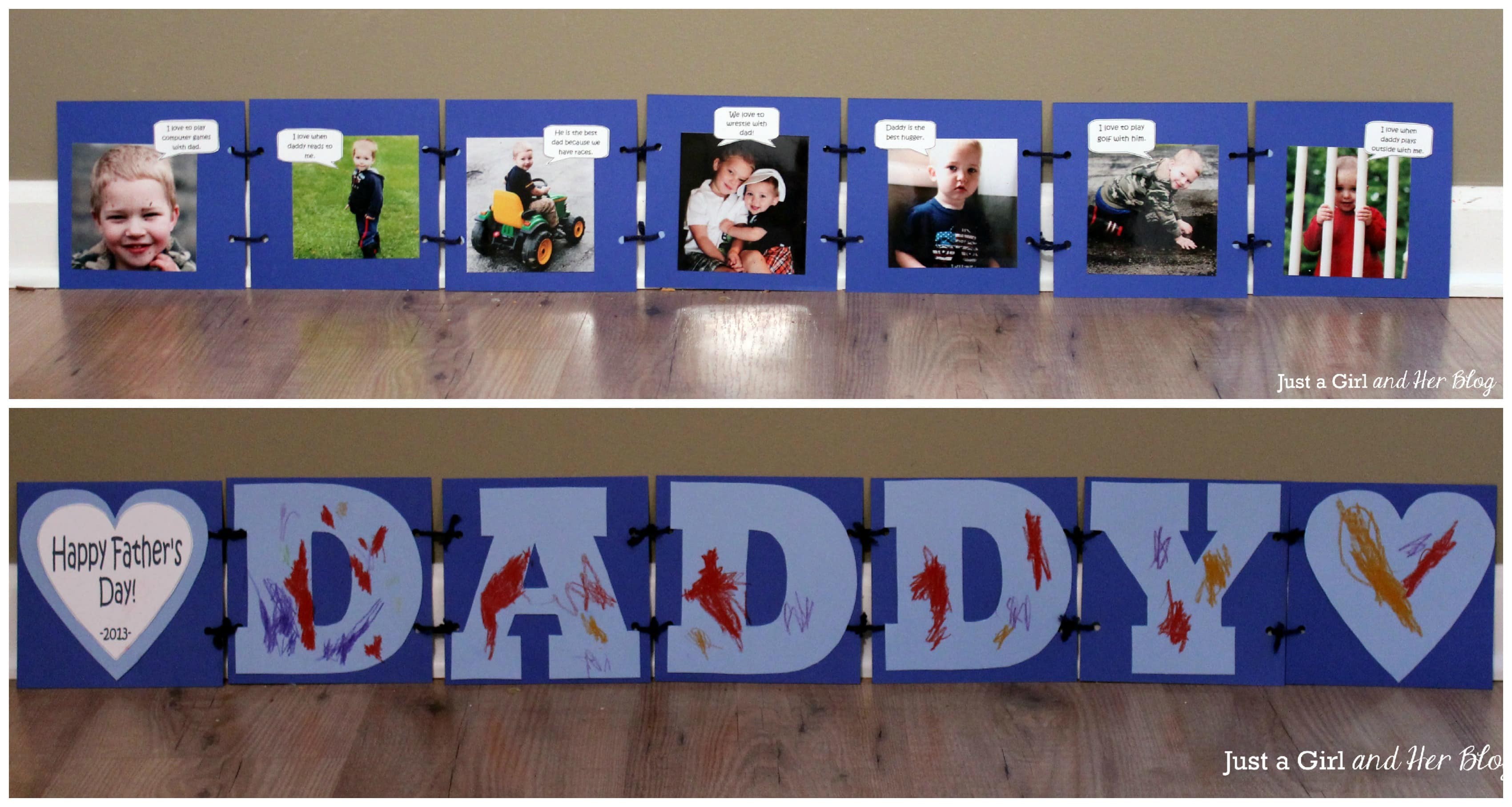 """What I Love about Dad"" Father's Day Gift - Just a Girl ..."