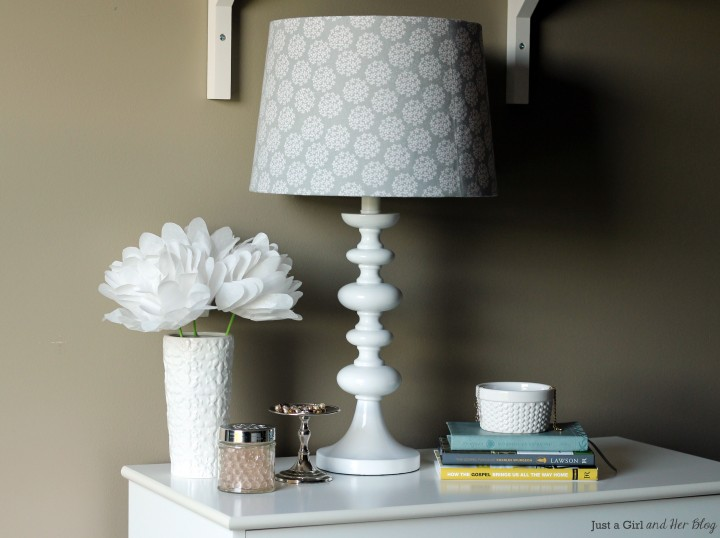Lamp Shade Makeover with Fabric by Just a Girl and Her Blog