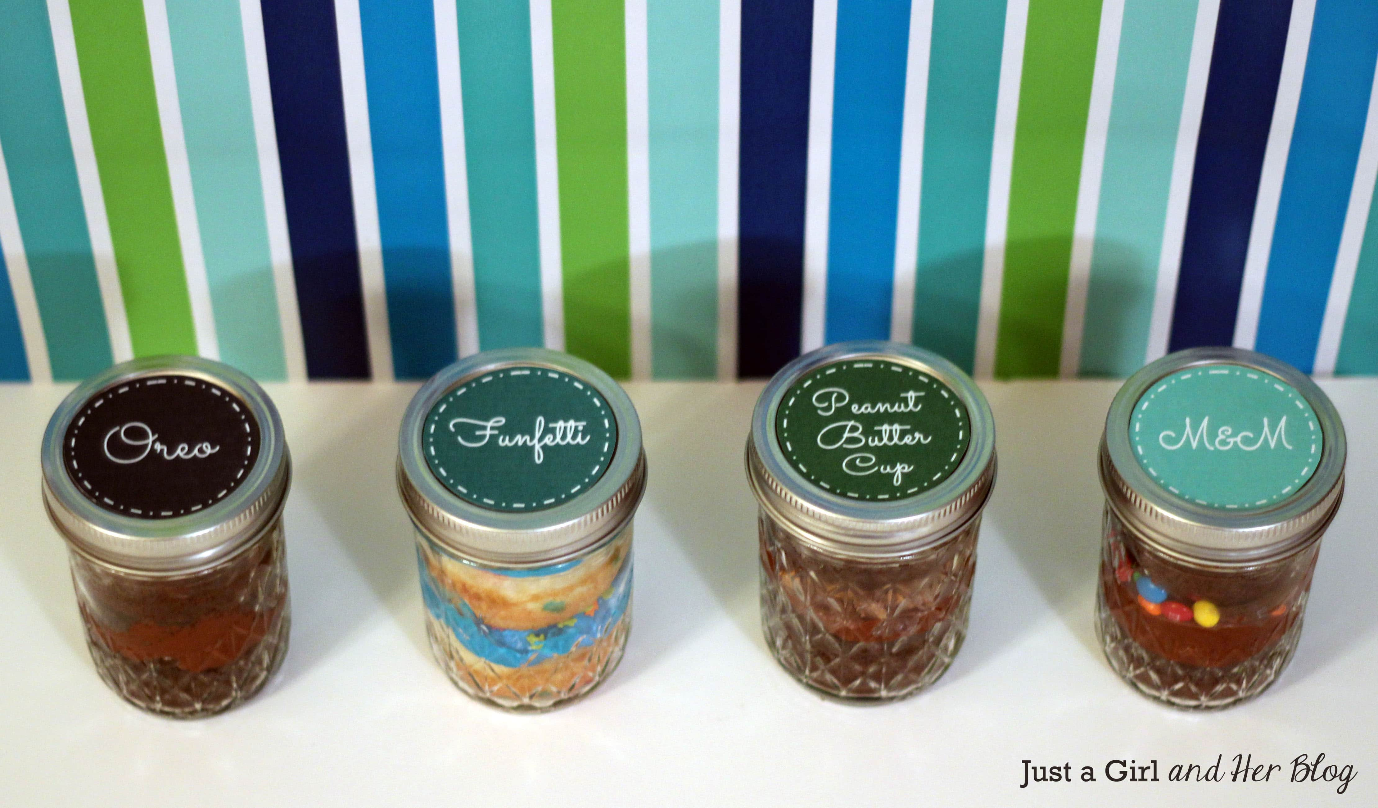 Cake Jar Designs : Layer Cake in a Jar - Just a Girl and Her Blog