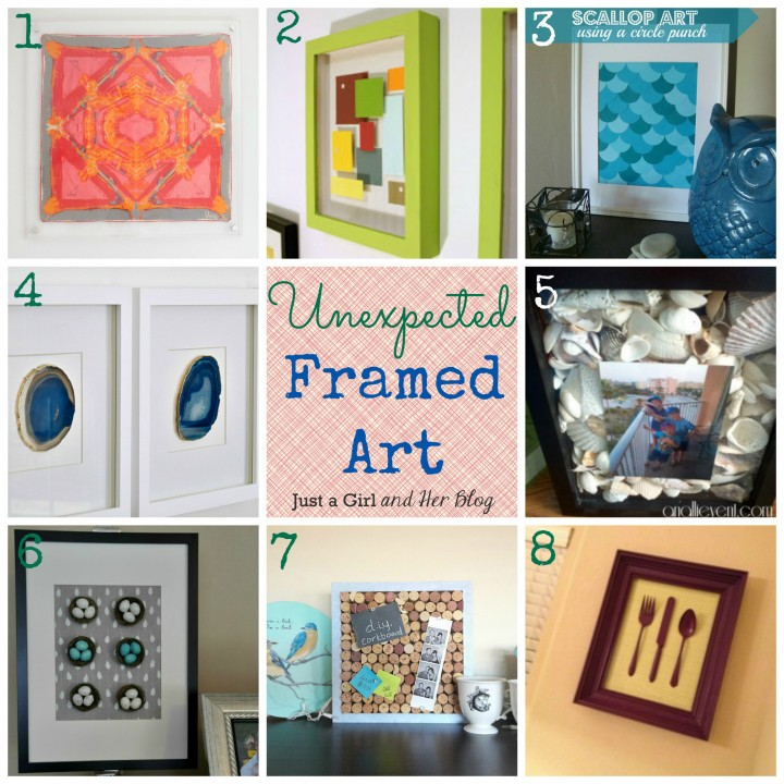 Unexpected Framed Art by Just a Girl and Her Blog