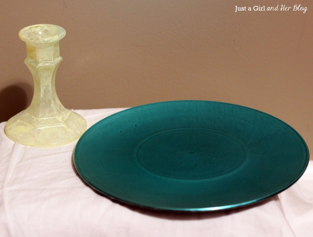 Plate and Candlestick Before