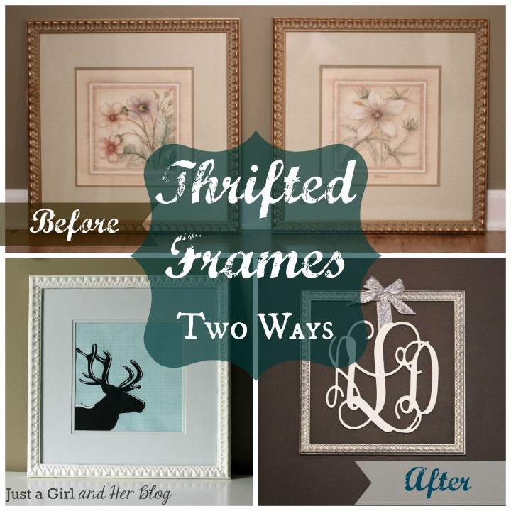 Thrifted Frames Two Ways by Just a Girl and Her Blog
