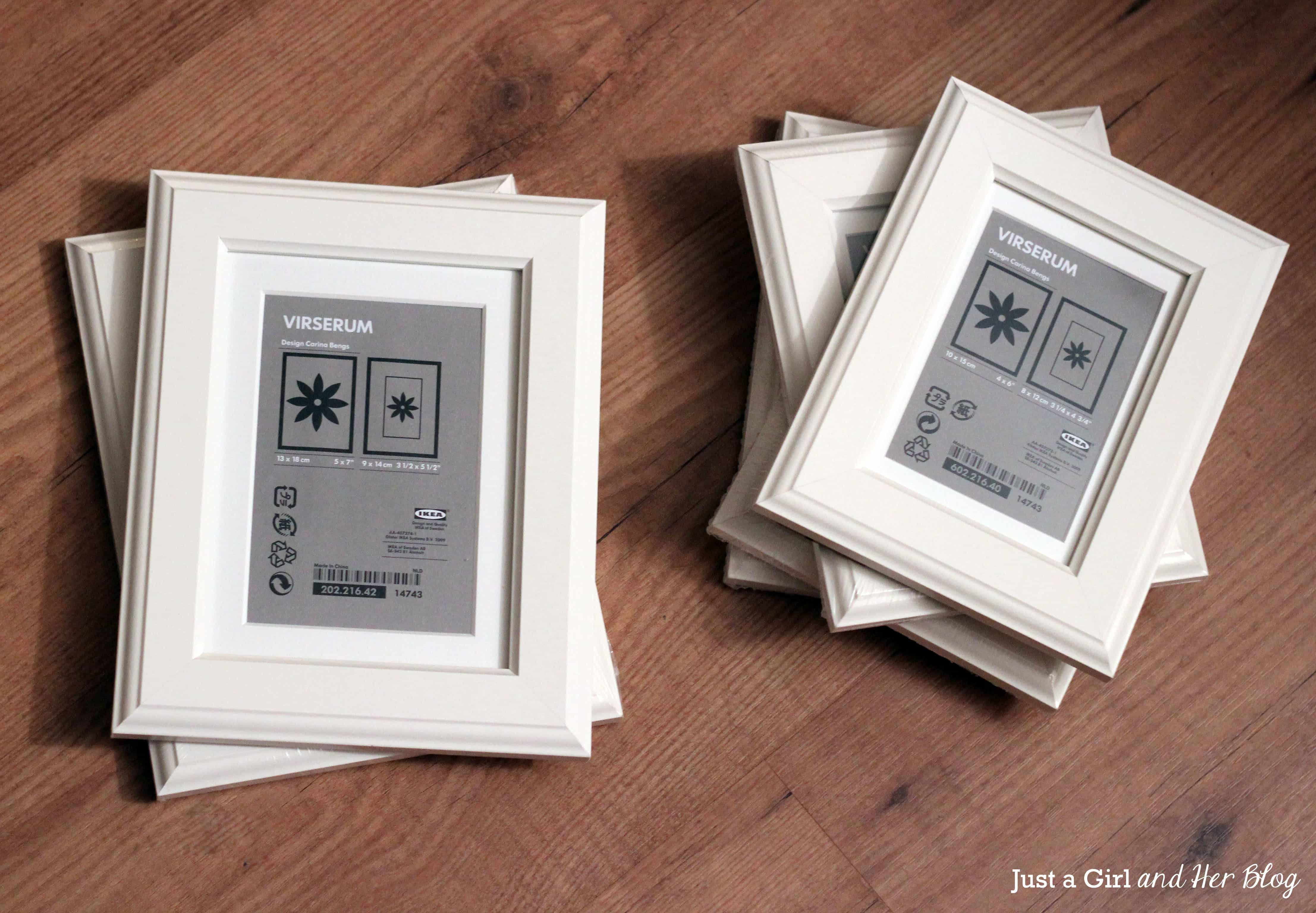 Unexpected Framed Art - Just a Girl and Her Blog