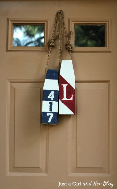 DIY Buoy Wreath by Just a Girl and Her Blog