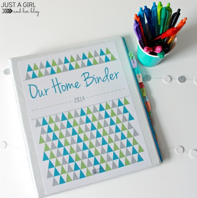 Home Binder at JustAGirlAndHerBlog.com