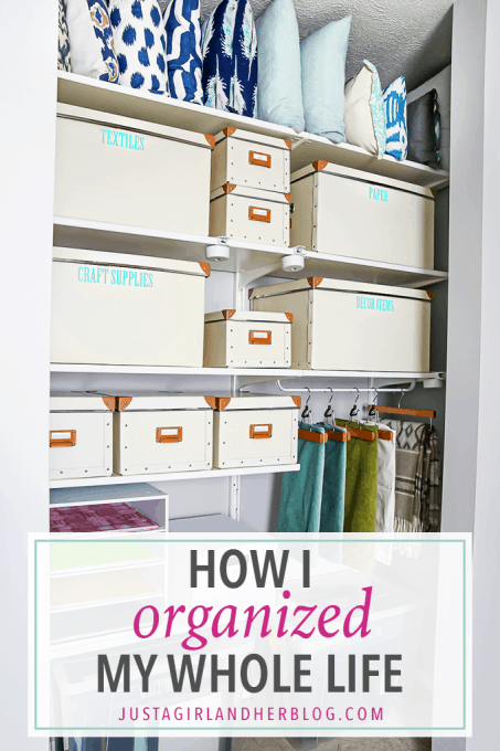 Love this simple, yet effective method for organizing every area of your life! Click over to the post to snag the cute printable!