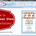 How to Make Your Own Party Invitations {Pretty Printables Boot Camp}