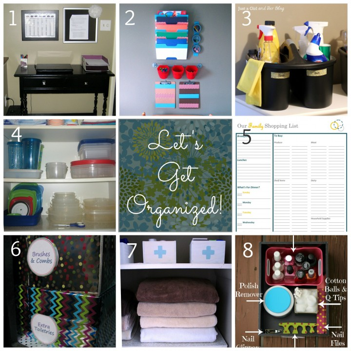 Let's Get Organized Posts by Just a Girl and Her Blog