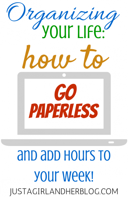 How to Go Paperless | JustAGirlAndHerBlog.com