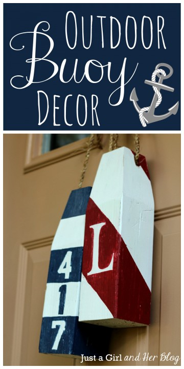 Outdoor Buoy Decor by Just a Girl and Her Blog