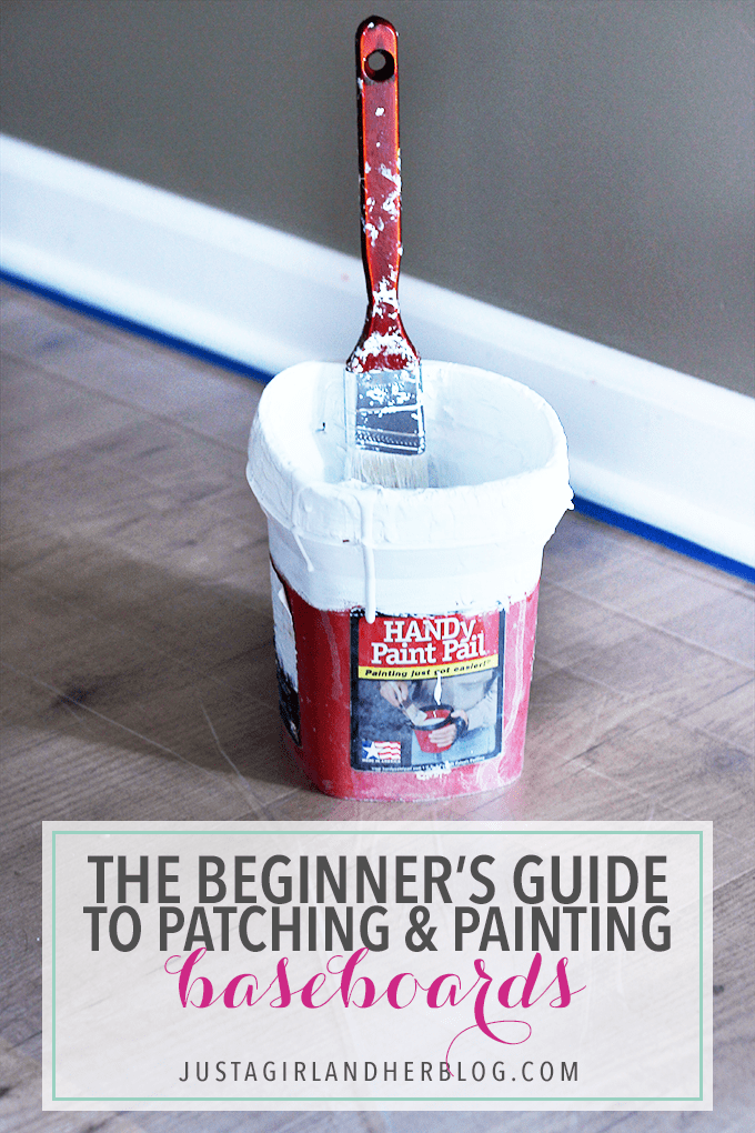 Definitely read this post before you start patching and painting baseboards! This is the easiest method that I have seen! Click through to the post to see how!
