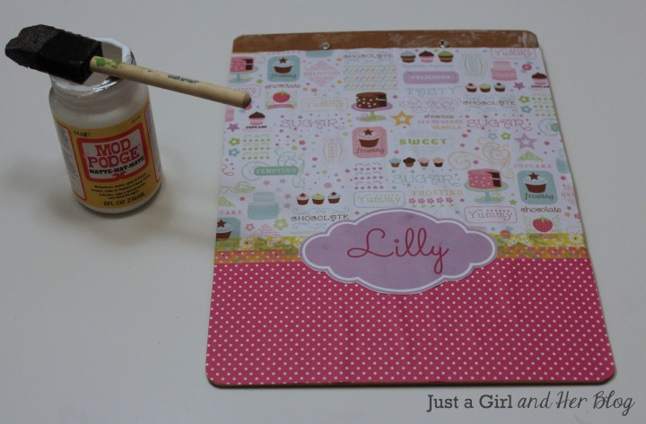 Back to School: Personalized Clipboard by Just a GIrl and Her Blog