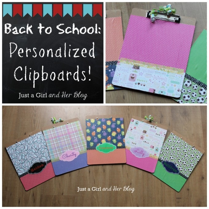 Back to School: Personalized Clipboards