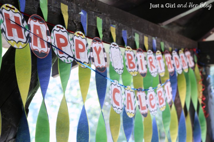 """If You Give a Boy a Birthday"" Party by Just a Girl and Her Blog"