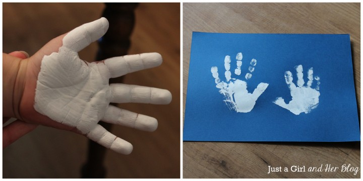 DIY Owl Handprint Art by Just a Girl and Her Blog