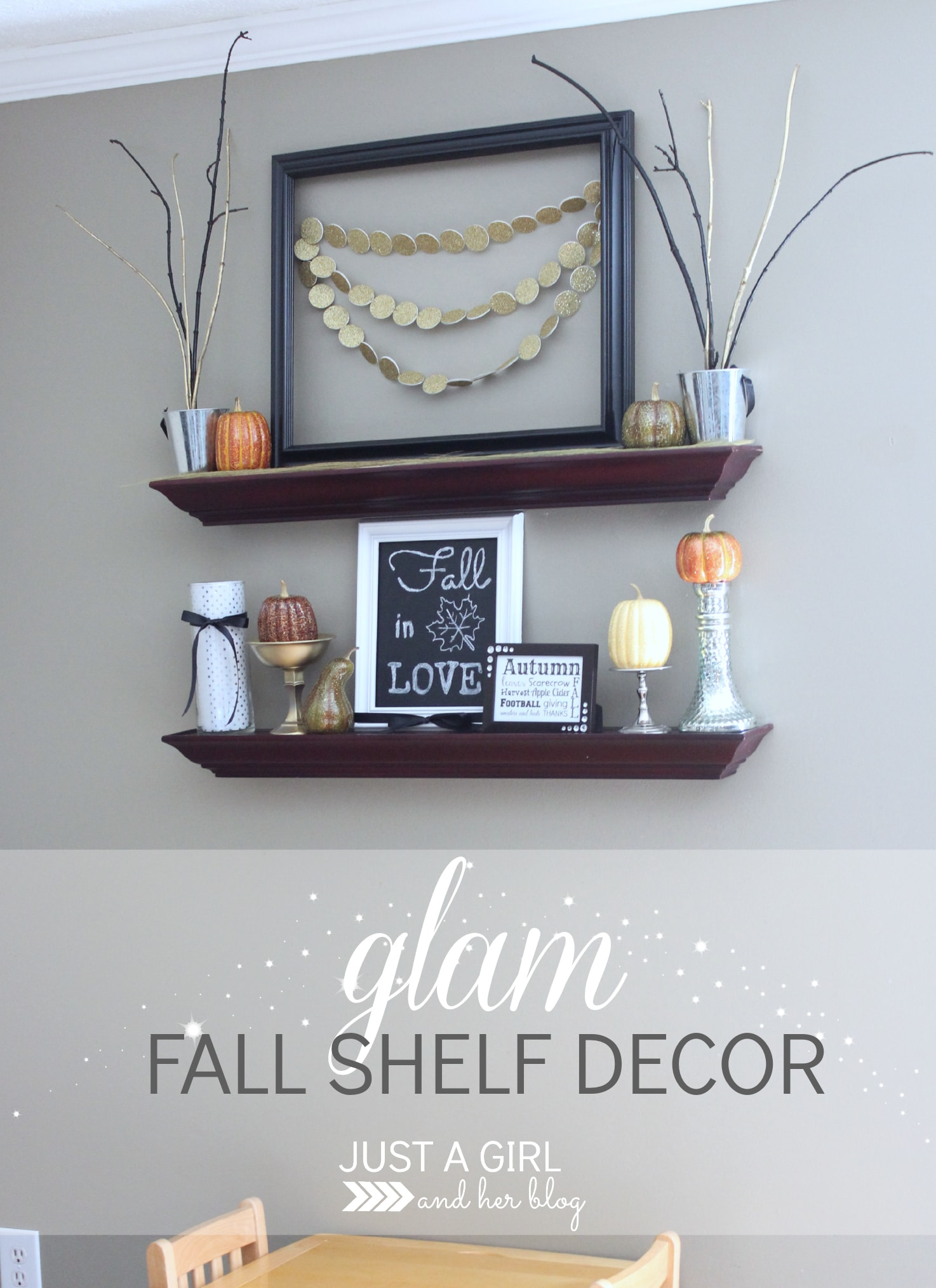 glam fall shelf decor a high end look for less just a